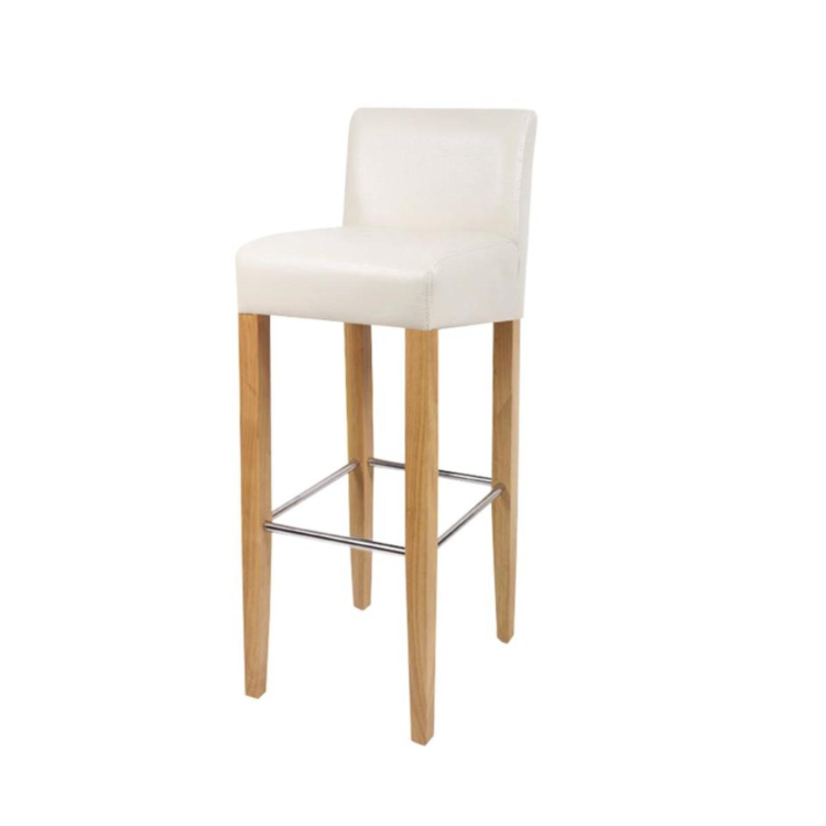 35190d301c9ad The bar stool is extremely comfortable with its upholstered seat made of  artificial leather and gives you a pleasant sitting feeling.
